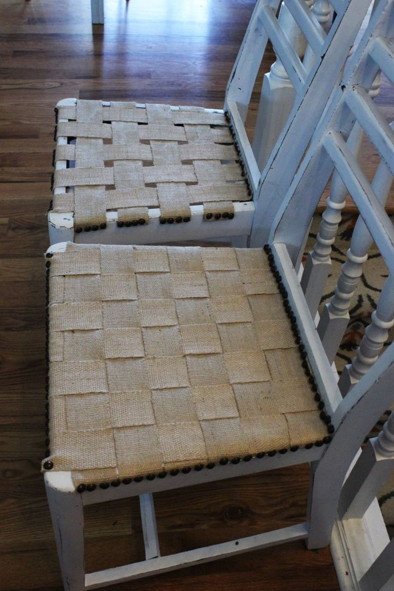 Jute Chair Seat Makeover