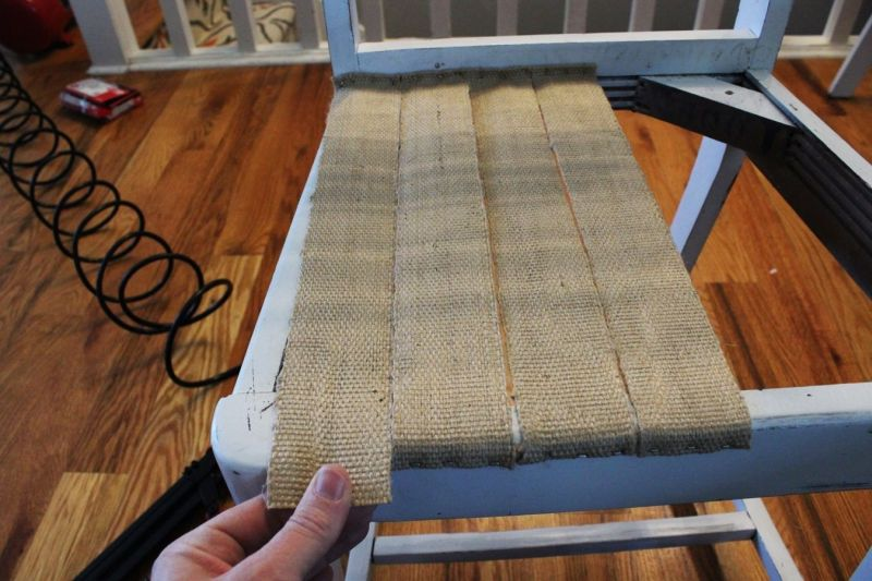 Webbing chair process