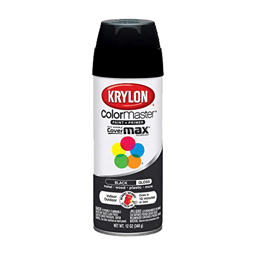 Krylon 51601 Gloss Black Interior and Exterior Decorator Paint