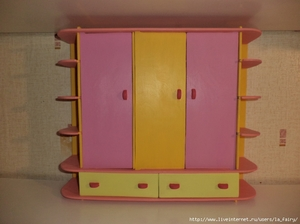 Шкаф для кукол своими руками