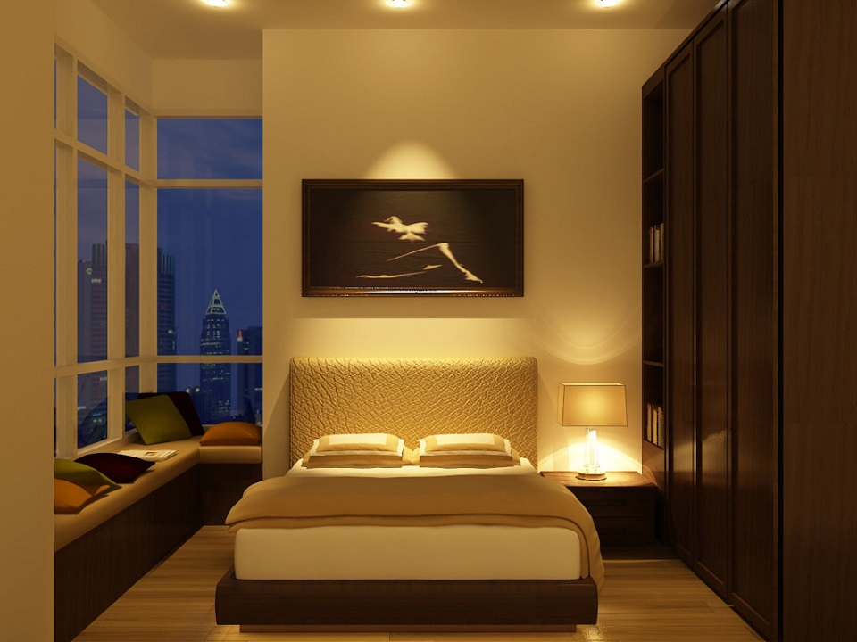 elegant-lights-in-small-bedroom-fixtures-faced-by-glass-wall-1024x768