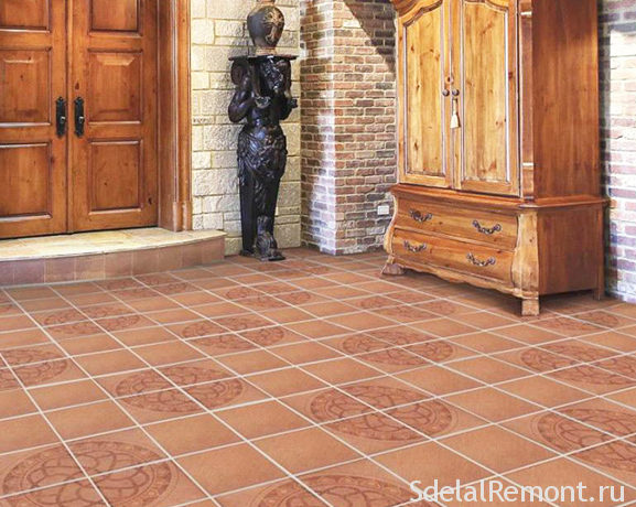 options for laying tiles on the floor:a photo