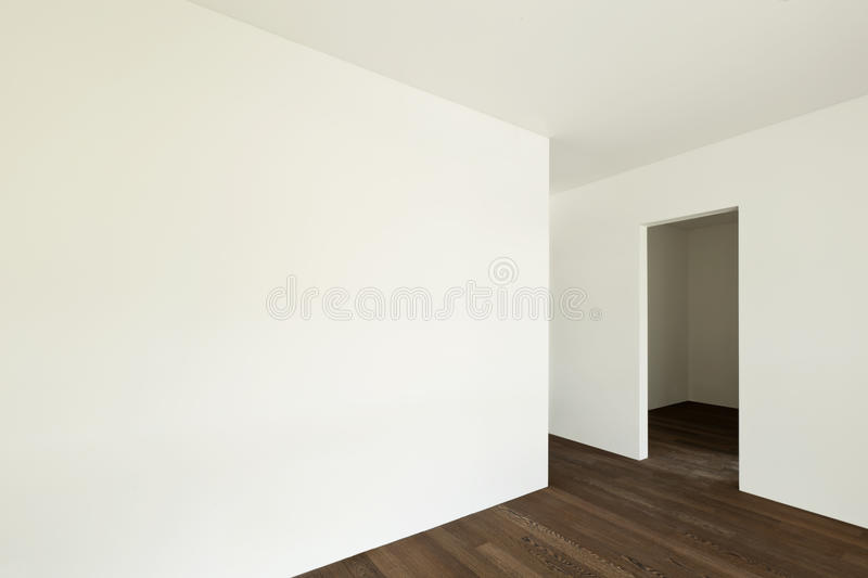 Empty apartment. Modern interior, empty apartment, wall white stock images