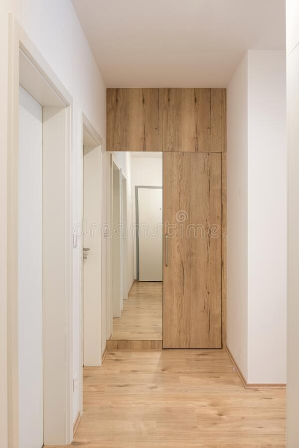 Entrance hall in apartment. Entrance hall of modern apartment royalty free stock images