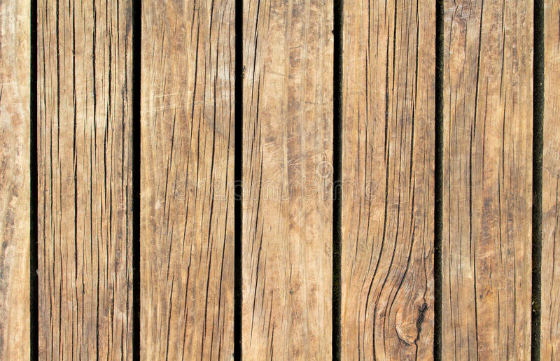 Vintage wood texture with vertical lines. Warm brown wooden background for natural banner. Timber texture closeup. Vertical wooden planks of floor backdrop stock image
