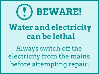 beware, water and electricity can be lethal - Cashfloat