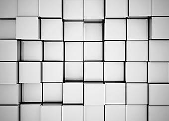 Абстрактный фон из серых 3D кубов. (Номер по каталогу: 25006)