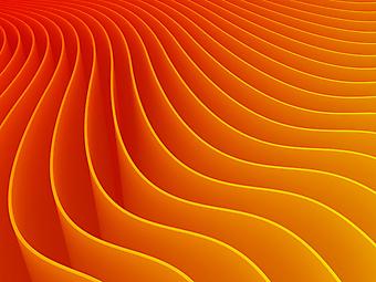 Оранжевые 3D фотообои. (Номер по каталогу: 25009)
