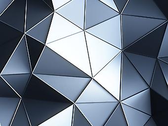 Абстрактные 3D фотообои с голобуми кристаллами. (Номер по каталогу: 25010)