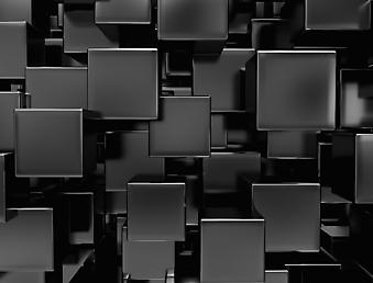 3D фотообои с черными блоками. (Номер по каталогу: 25013)