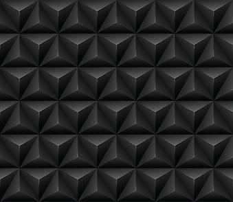 Бесшовный черный 3D фон. (Номер по каталогу: 25015)