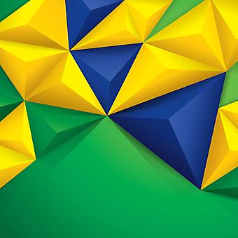 Флаг Бразилии в 3D геометрии. (Номер по каталогу: 25017)