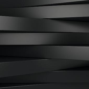 Фотообои с черными 3D панелями. (Номер по каталогу: 25021)