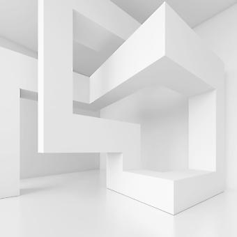 Белое 3D сооружение. (Номер по каталогу: 25024)