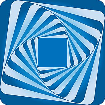 Голубой квадрат с абстрактной 3D спиралью. (Номер по каталогу: 25030)