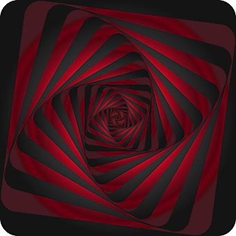 Красивый бордовый 3D туннель. (Номер по каталогу: 25031)
