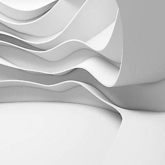 Белые фотообои с 3D эффектом. (Номер по каталогу: 25035)