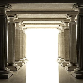 Старинные античные колонны. (Номер по каталогу: 25036)