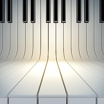 3D иллюстрация клавиш пианино. (Номер по каталогу: 25043)