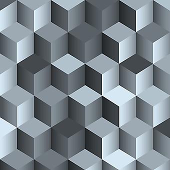 Монохромная 3D стена из блоков. (Номер по каталогу: 25050)