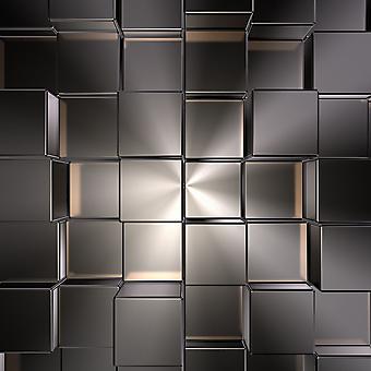 3D стена из металлических блоков. (Номер по каталогу: 25057)