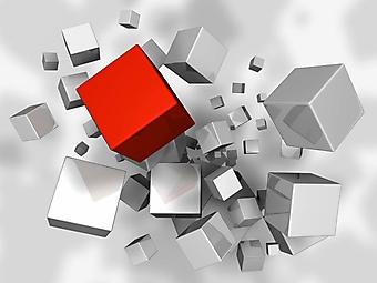 3D взрыв из кубиков (Каталог номер: 25059)