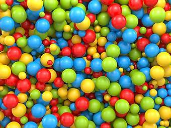 Микс из разноцветных 3D шаров (Каталог номер: 25064)