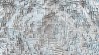 Белая 3D мозаика (Каталог номер: 25066)
