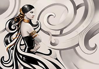 Девушка в платье из латекса (Каталог номер: 25083)