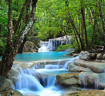 Водопад в Канчанабури, Таиланд. (Код изображения: 01018)