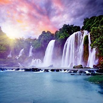 Закат на водопаде Banyue. Вьетнам (Каталог номер: 01025)
