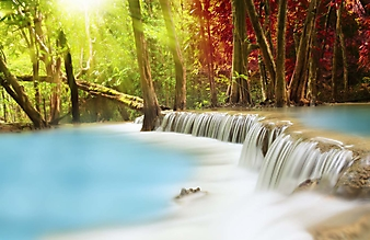 Водопад Хуай Мае Камин, Тайланд (Каталог номер: 01037)