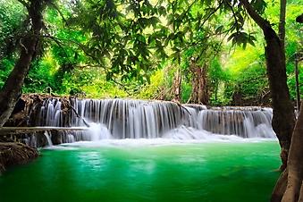 Водопад в Канчанабури (Каталог номер: 01048)