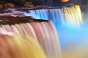 Разноцветная вода Ниагарского водопада (Каталог номер: 01050)