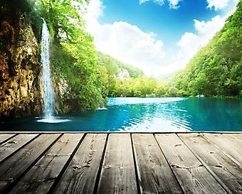Терраса у водопада (Каталог номер: 01052)