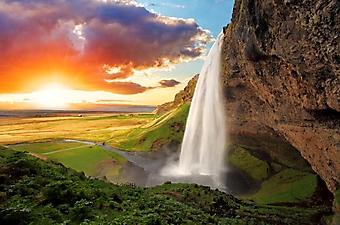 Водопад Сельяландсфосс, Исландия (Каталог номер: 01055)
