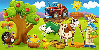 На ферме. (Код изображения: 10003)