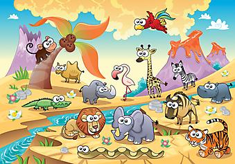 Животные Саванны. (Код изображения: 10019)