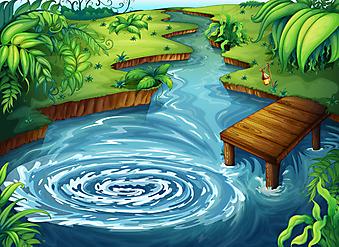 Зеленый пейзаж. (Код изображения: 10031)