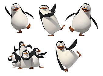 Пингвины.Мадагаскар. (Код изображения: 10034)