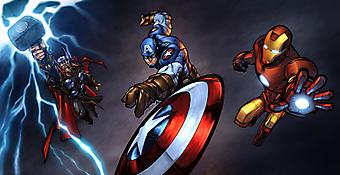 Мстители: Тор, Железный человек и капитан Америка. (Код изображения: 10135)