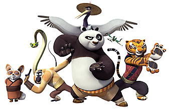 По, Шифу, Тигрица, Обезьяна, Журавль, Богомол и Гадюки. Кунг-фу панда. (Код изображения: 10163)