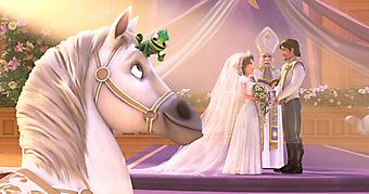 Свадьба Рапунцель и Флина. (Код изображения: 10171)