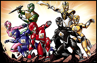 Могучие рейнджеры (Power Rangers). (Код изображения: 10189)