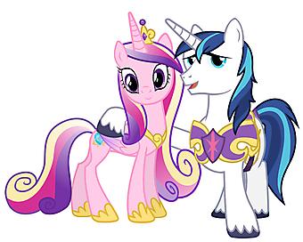 Принцесса Каденс и Шайнинг Армор. Дружба - это чудо. (Код изображения: 10191)