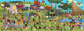 Персонажи детских мультиков. (Код изображения: 10206)