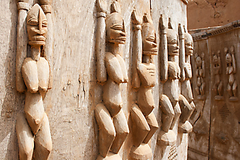 Деревянные скульптуры, Мали, Африка. (Код изображения: 16018)