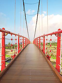 Деревянный мост. (Код изображения: 16036)