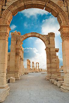 Город Пальмира, Сирия. (Код изображения: 16037)