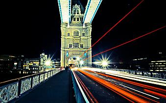Тауэрский мост ночью. Лондон (Код изображения: 16059)